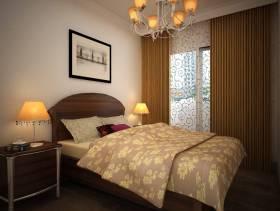 欧式风格单身公寓卧室吊顶装修效果图