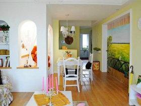 田园风格一居室装修效果图