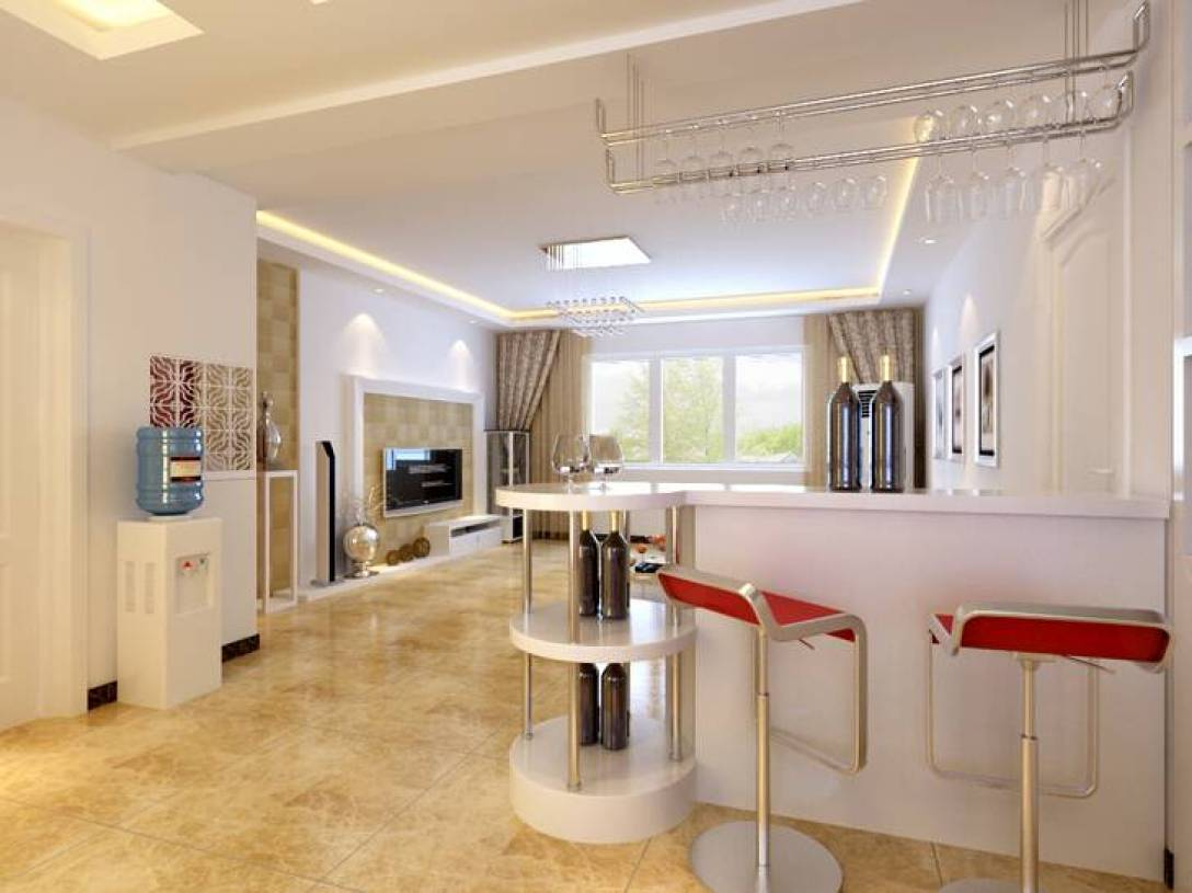 130平三室两厅两卫现代简约风格装修效果图