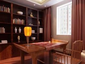 别墅中式书房装修效果图