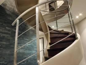 现代风格复式楼旋转楼梯装修图片