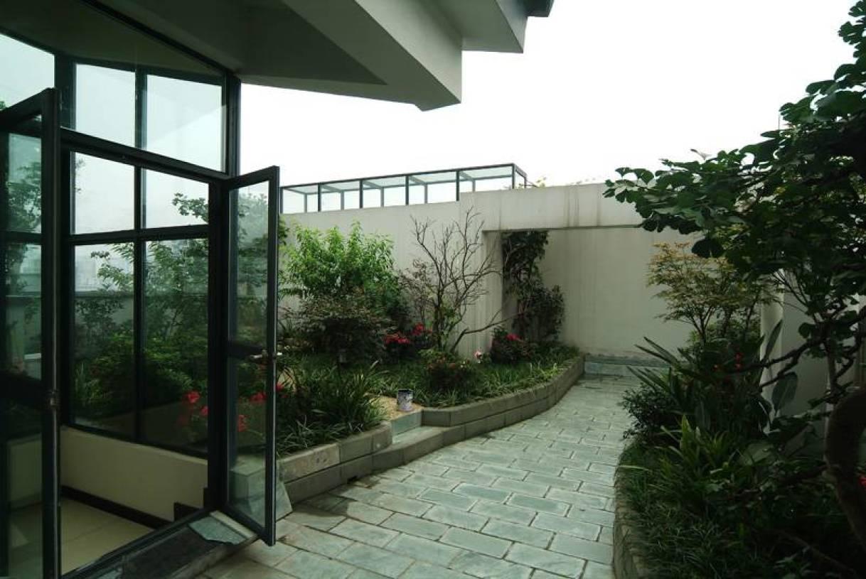288平新中式风格别墅屋顶花园装修图片-兔狗装修效果图