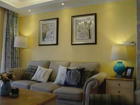 地中海风格大户型客厅沙发背景墙装修图片-地中海风格沙发图片