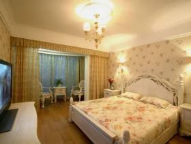 欧式田园风格卧室吊顶装修效果图,欧式田园风格窗帘图片