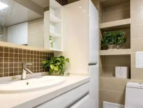 三居小型卫生间面盆柜图片