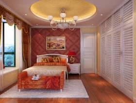 新中式风格卧室背景墙装修效果图,新中式风格吊顶图片