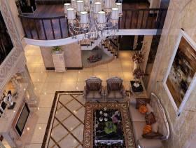 欧式复式楼客厅效果图