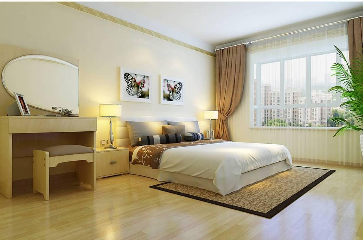 现代简约风格卧室婚房布置装修效果图-现代简约风格梳妆台图片