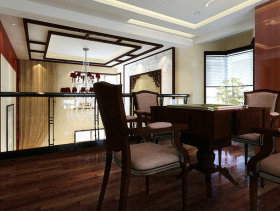 181平米复式现代中式客厅装修效果图