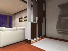 现代风格二居室客厅玄关装修效果图