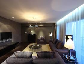 现代风格客厅装修图片-现代风格吊灯图片