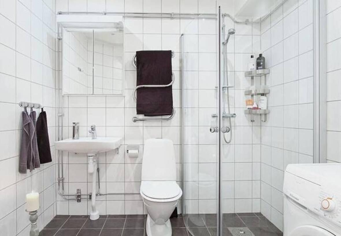 现代简约风格小户型公寓卫生间装修图片-现代简约风格