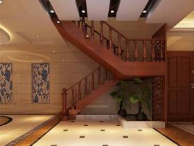 新中式风格复式楼梯图片