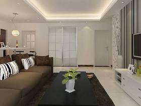 100㎡三居室简约风格客厅电视背景墙装修效果图-简约风格沙发图片
