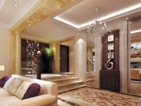欧式风格二居室客厅玄关装修效果图