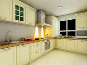 70㎡二居简约欧式风格厨房装修效果图-简约欧式风格橱柜图片