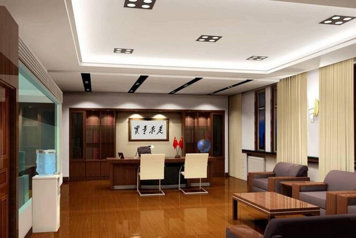 现代风格董事长办公室装修效果图-现代风格办公沙发图片