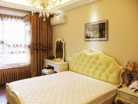 欧式风格小别墅卧室背景墙装修图片-欧式风格梳妆台图片