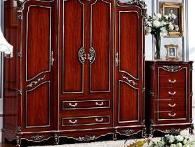 美式卧室实木古典衣柜图片