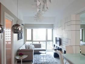 现代简约风格最时尚小户型客厅电视背景墙装修图片-现代简约风格沙发图片