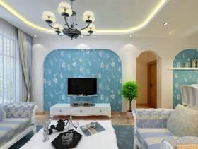 地中海风格客厅电视背景墙装修效果图-地中海风格沙发图片