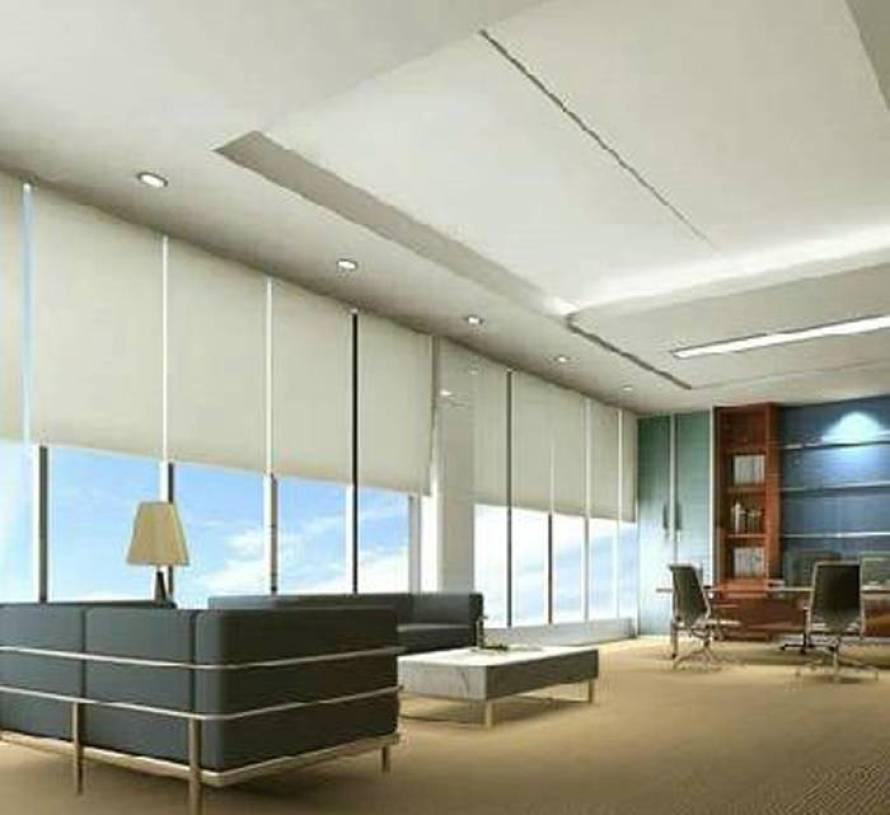现代风格办公室窗帘装修效果图-现代风格茶几图片