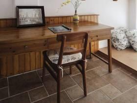 美式乡村风格小户型地台装修图片-美式乡村风格实木家具图片
