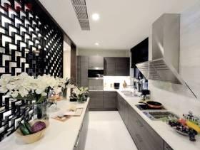 新中式风格厨房装修效果图,新中式风格橱柜图片