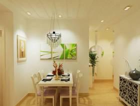 简约风格小户型公寓餐厅背景墙装修图片-简约风格实木餐桌图片