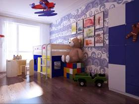 现代风格儿童房背景墙装修效果图-现代风格椅凳图片