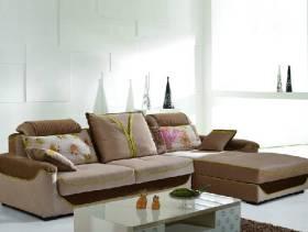 现代风格小户型客厅多人沙发效果图