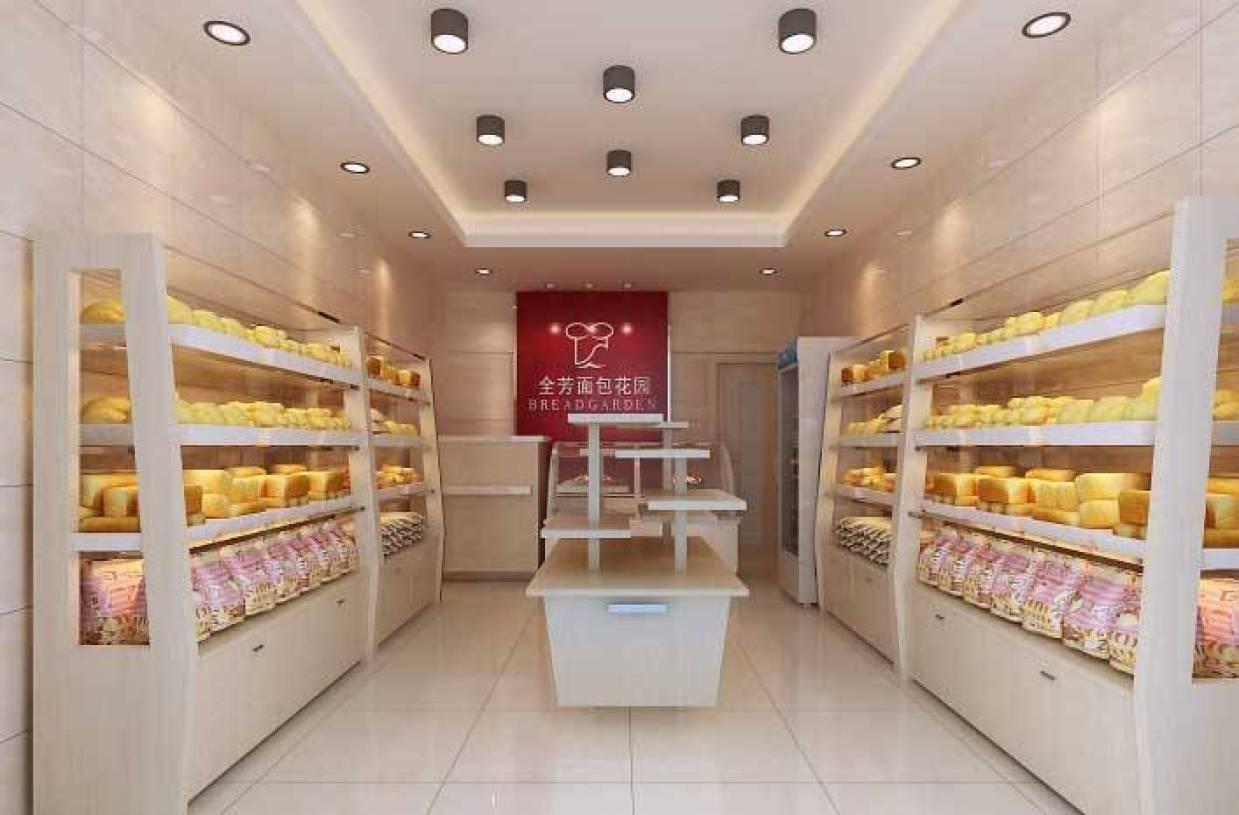 现代风格面包店吊顶装修效果图-现代风格灯具图片