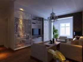 客厅电视墙创意收纳设计效果图