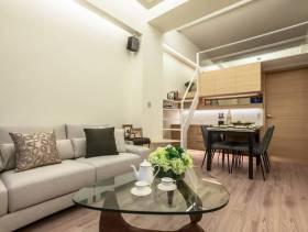 现代简约风格客厅复式楼梯图片