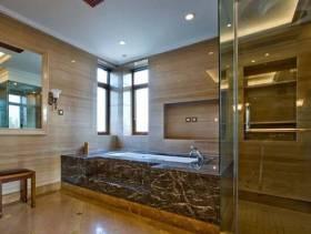 欧式风格卫生间玻璃隔断装修效果图-欧式风格浴缸图片