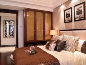 现代风格卧室床头背景墙装修图片-现代风格实木家具衣柜图片