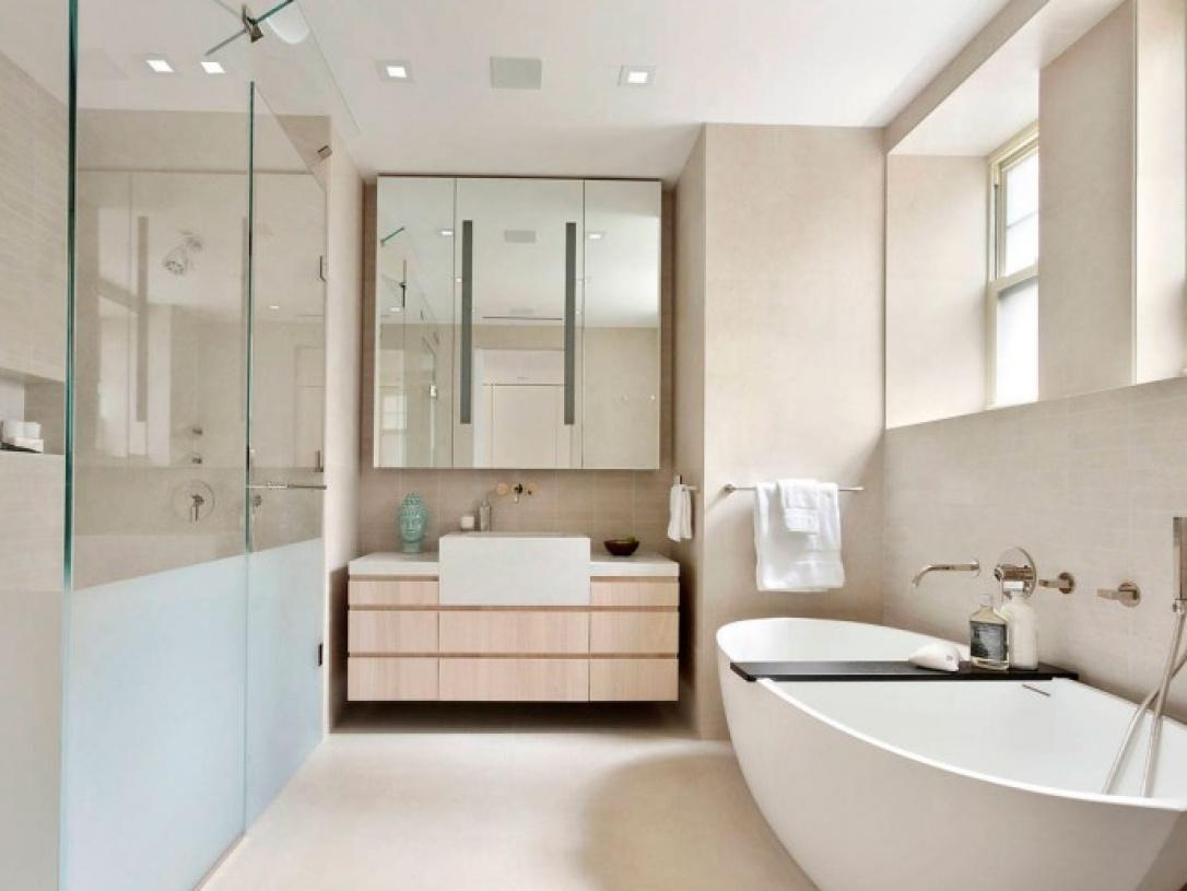 简约风格浴室装修效果图-简约风格浴缸图片