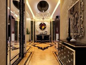欧式风格别墅客厅玄关装修效果图