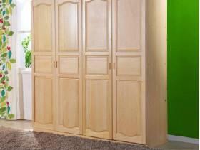新中式卧室实木二门衣柜图片
