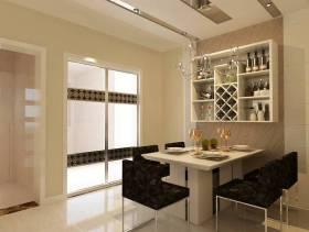 现代风格餐厅吊顶装修效果图-现代风格餐桌椅图片