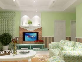 2013田园风格客厅电视背景墙效果图