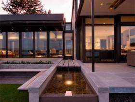 现代简约风格别墅庭院景观装修图片
