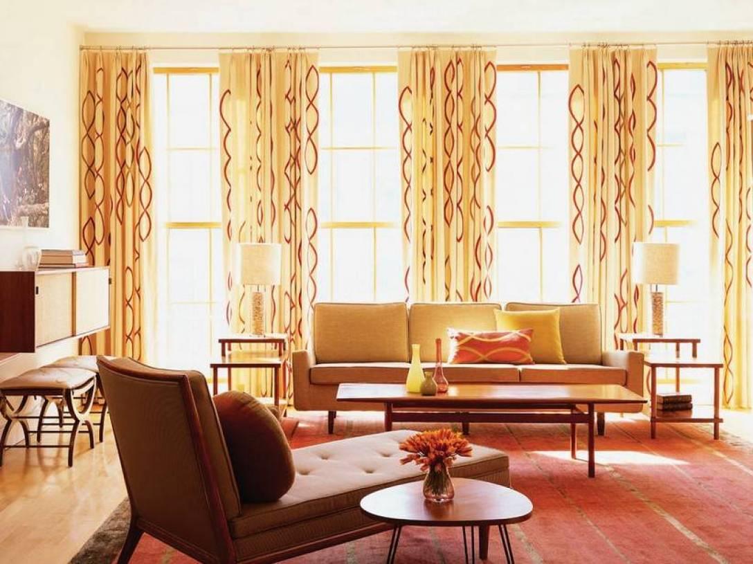 北欧风格客厅装修效果图-北欧风格窗帘杆图片