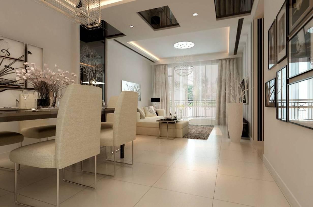 现代简约风格客厅吊顶装修效果图-现代简约风格吸顶灯