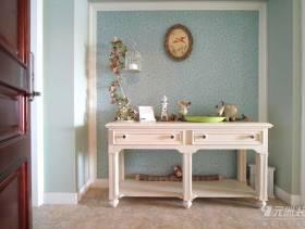美式乡村风格三居客厅玄关装修图片,美式乡村风格玄关台图片