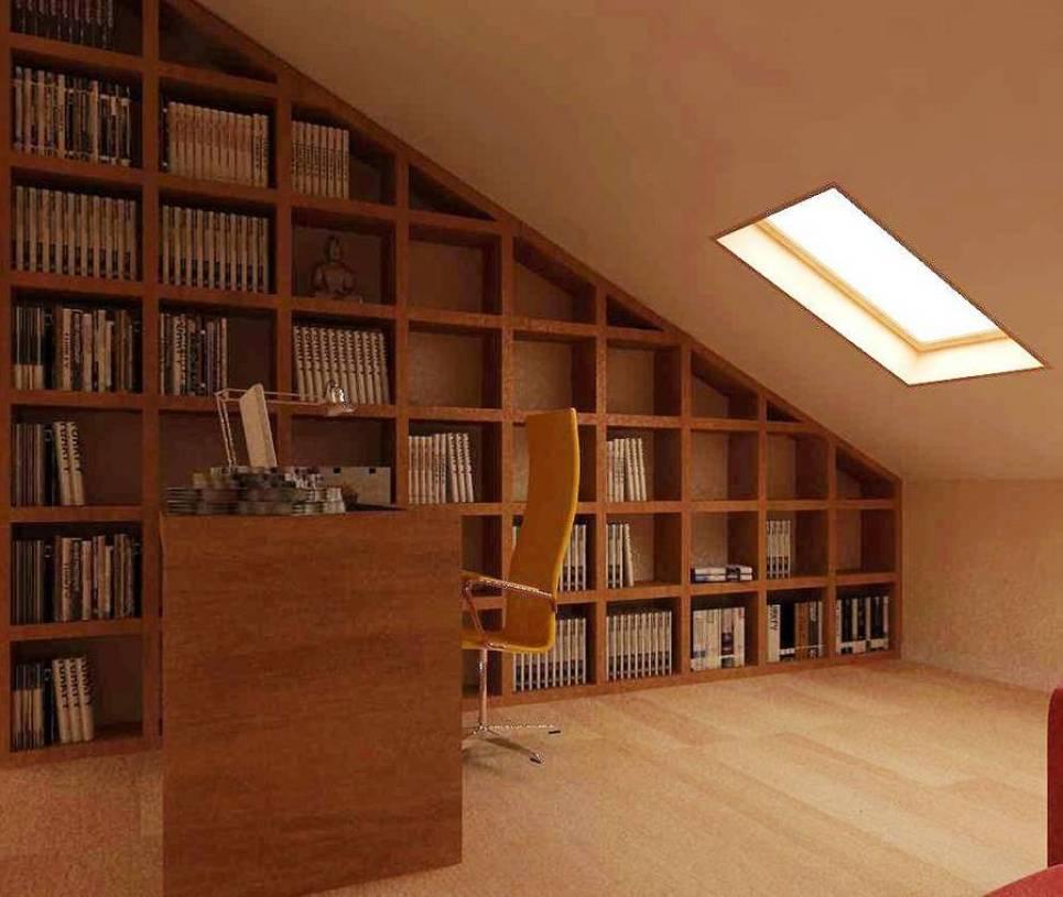 现代简约风格斜顶阁楼装修效果图-现代简约风格椅凳图片