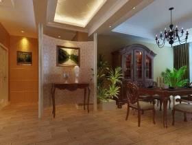 美式风格大户型客厅玄关装修效果图