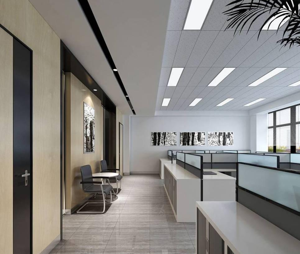 简约风格办公室隔断装修效果图-简约风格办公桌椅图片
