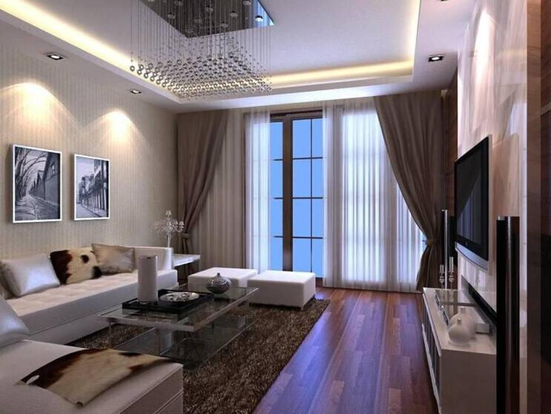 现代简约风格客厅窗帘装修效果图-现代简约风格茶几图片