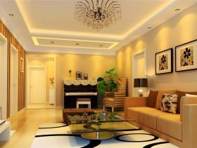 120㎡三居现代简约风格客厅沙发背景墙装修效果图-现代简约风格沙发图片